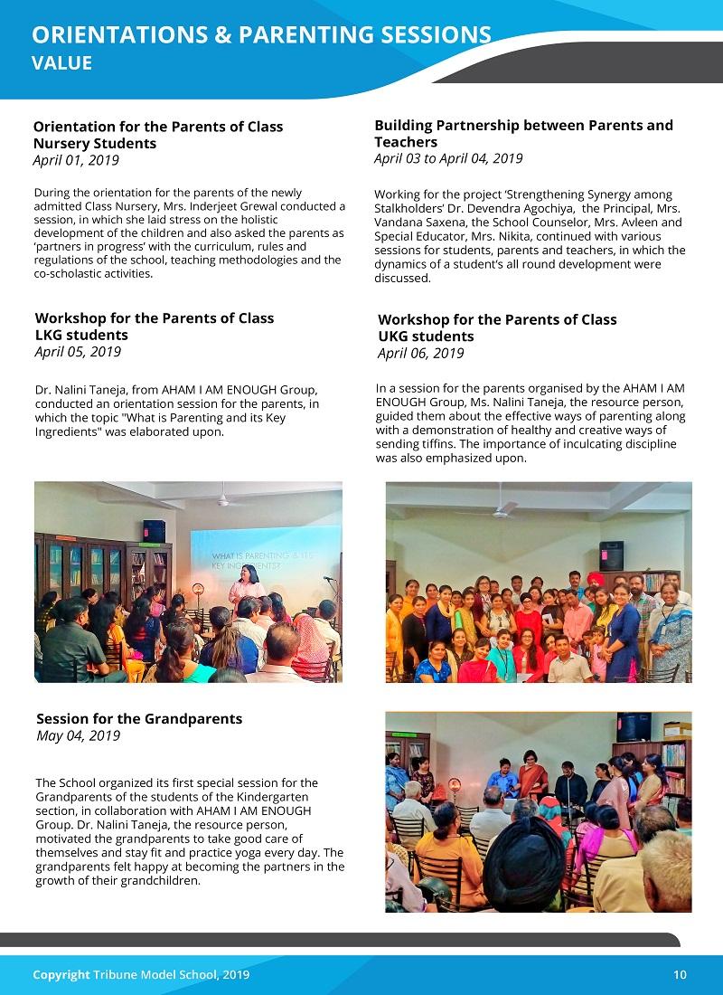 News Letter 2018-19 - Tribune Model School