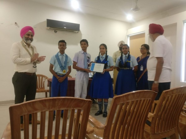 Installation of New Members of Interact Club at Rotary Bhawan.